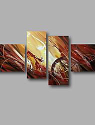 Недорогие -Ручная роспись Абстракция Любые формы, Modern холст Hang-роспись маслом Украшение дома 4 панели