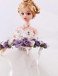 couronne de satin de tissu bandeau de mariage élégant style féminin