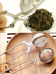 cheap -Tea Infuser Stainless Steel TeaPot Infuser Sphere Mesh Tea Strainer Handle Tea Ball