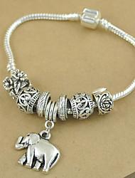 Недорогие -унисекс / пары 'шарм / браслет цепи браслет не камень элегантный стиль
