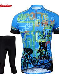 economico -TASDAN Maglia con pantaloni da ciclismo Per uomo Manica corta Bicicletta Pantaloncini /Cosciali Maglietta/Maglia Calze/Collant/Cosciali