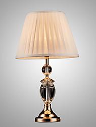 SL® Iron Desk Lamp with Crystal Pillar Cloth Shade Classic Lighting