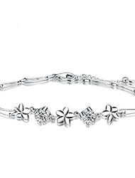 economico -Bracciali Bracciali con ciondoli / Dell'involucro del braccialetto Argento sterling Feste / Quotidiano / Casual Gioielli Regalo Bianco,1