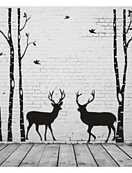 economico -Astratto Paesaggi Moda Forma Fantasia Adesivi murali Adesivi aereo da parete Adesivi decorativi da parete, Vinile Decorazioni per la casa