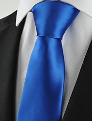 cheap -New Solid Royal Blue Mens Tie Suit Necktie Formal Wedding Holiday Gift KT1012