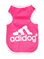 cheap -Dog Shirt / T-Shirt Dog Clothes Fashion Solid Letter & Number Gray Blue Pink Costume For Pets