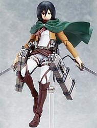 economico -Figure Anime Azione Ispirato da Sword Art Online Mikasa Ackermann 15 CM Giocattoli di modello Bambola giocattolo