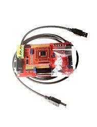 msp430 conseil de développement écran carte carte système minimum de base de couleur msp430f149 microcontrôleur avec usb downloader