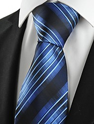 cheap -New Squared Blue Black Men's Tie Formal Necktie Wedding Party Holiday Gift #1070