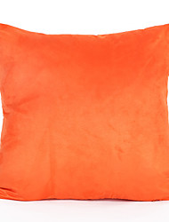 preiswerte -1 stück 45 * 45 cm orange farbe wildleder kissenbezug hause dekorationen