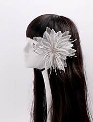 Women's / Flower Girl's Feather / Rhinestone / Tulle Headpiece-Wedding / Special Occasion / Casual Flowers 1 Piece