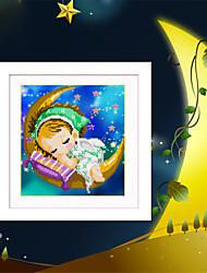 abordables -5d bricolaje luna bordado de diamantes niños y niñas ángel magia roundcube pintura diamante mosaico kits de punto de cruz de diamantes