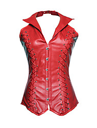 cheap -Women's Hook & Eye Overbust Corset-Solid