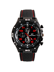 cheap -Men's Wrist watch Quartz Large Dial Silicone Band Sports Black