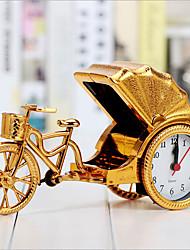 Creative Retro Rickshaw Alarm Desktop Decoration Plastic Bedside Clock
