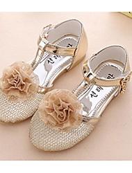 cheap -Girls' Shoes PU(Polyurethane) Summer Flats Flower Pink / Silver / Gold