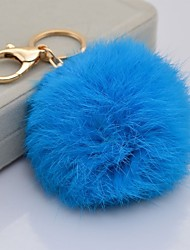 cheap -Rabbit fur ball keychain car ornaments plush fur bag cute female key chain pendant