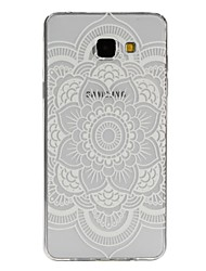 economico -Custodia Per Samsung Galaxy Samsung Galaxy Custodia Traslucido / Fantasia / disegno Per retro Fiori Mandala TPU per A7(2016) / A5(2016) / A3(2016)