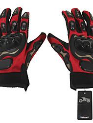 Motorrad-Handschuhe Vollfinger Leder / Baumwolle /  Leinwand / Netz / ABS M Rot