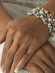 abordables -Bracelet Chaîne / Grappe / Bracelet Rond Imitation de perle / Alliage Perle imitée / Strass Femme