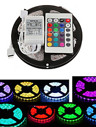 Z®ZDM 5M Waterproof 300X5050 SMD RGB LED Strip Light  IP65 with 24Key Remote Controller (DC12V)