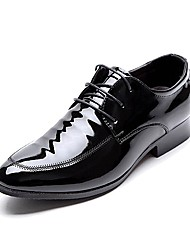 cheap -Men's Shoes Amir 2018 Gentry Business Party / Office Black Comfort Pantent Leather Oxfords for Sales Promotions