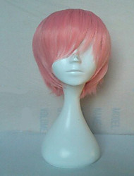 cheap -High Quality Pink Synthetic Hair Cosplay Wigs Short Straight Animated Wig Man's Cartoon Wig Party Wig Freeshipping