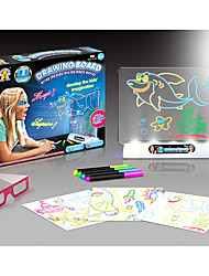 cheap -Amazing 3D Drawing Board DIY TOY LED Lighting Magic
