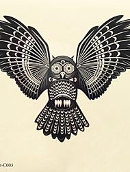 1pc halloween pasta tatuaggio tatuaggio di colore adesivi una versione più grande animale impermeabile 003 #