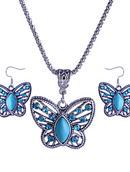 Feminino Conjunto de Jóias Colar / Brincos Luxo Casamento Festa Diário Casual Acrílico Imitações de Diamante Liga Animal Borboleta