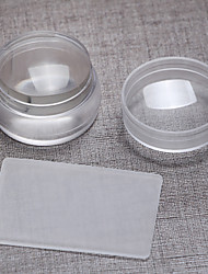 cheap -1pc 3.8cm Import Transparent The Silicone Big The Seal With Cover+ Big Scraper Super Brief Paragraph