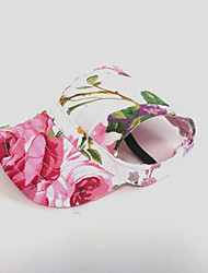 Cat Dog Bandanas & Hats Dog Clothes Holiday Flower Pink Costume For Pets