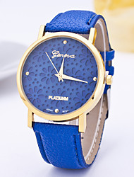 Women's Fashion Watch Casual Watch Quartz / PU Band Flower Casual Blue Purple Navy LightBlue Purple Navy