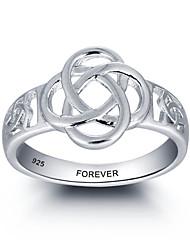 Mode personalisierte Versprechen 925 Sterling Silber Ring für Frauen