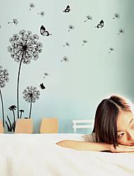 Romanticismo Moda Floreale Paesaggio Adesivi murali Adesivi aereo da parete Adesivi decorativi da parete Materiale Rimovibile