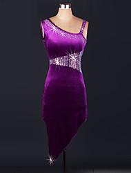 cheap -Ballroom Dance Dresses Women's Performance Spandex Draped 1 Piece Dress