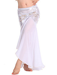 cheap -Shall We Belly Dance Bottoms Women Performance Chiffon Dropped Skirt