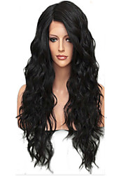 cheap -NEW!!!100% Real Unprocessed Human Hair Full Lace Wig with Baby Hair Brazilian Virgin Glueless Loose Wave Lace Wig