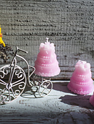 Pink Wedding Cake Candle Favor