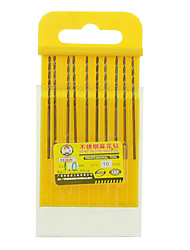 cheap -REWIN® TOOL Stainless Steel Cobalt-containing Twist Drill Diameter:1.0mm With 10pcs/box
