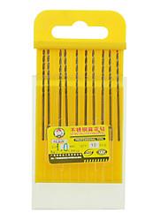 rewin® 도구 스테인레스 스틸, 코발트 함유 트위스트 드릴 직경 : 10PCS / 상자 1.0mm 인