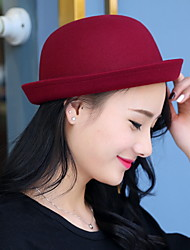 cheap -Dome Of Autumn And Winter Cashmere Woolen Hat Crimping Fashion Candy-colored Solid Topper