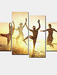 economico -Moderno Print Canvas Quattro Pannelli Pronto da appendere,Orizzontale