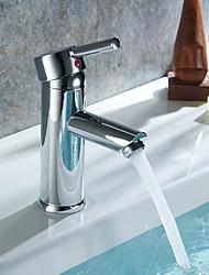 abordables -Diffusion large Soupape céramique Mitigeur cinq trous Chrome, Robinet lavabo