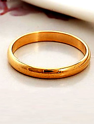 cheap -Women's Chunky Couple Rings / Band Ring / Statement Ring - Gold Plated Fashion 6 / 7 / 8 Black / Silver / Golden For Wedding / Party / Daily