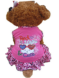 Dog Dress Rose Dog Clothes Summer Animal / Hearts