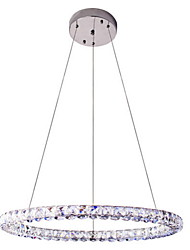 cheap -LED Crystal Pendant Light Lighting Modern Single D70CM Three Sides K9 Crystal Indoor Ceiling Lights Lamp Fixtures