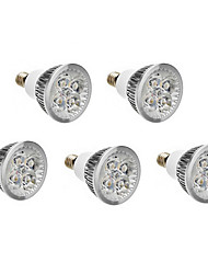 4W E14 LED Spotlight 400-450 lm Warm White Cold White 3500/6000 K AC 220-240 V 5pcs