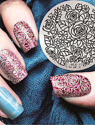 cheap -2016 Latest Version Fashion Pattern Rose Flower Nail Art Stamping Image Template Plates