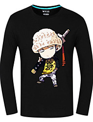 Inspired by One Piece Trafalgar Law Anime Cosplay Costumes Cosplay Tops/Bottoms Print Long Sleeves Top For Unisex